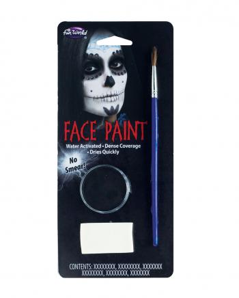 Schwarzes Aquacolor Make-Up mit Pinsel und Schwamm