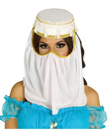 Arabischer Kostümhut mit Gesichtsschleier