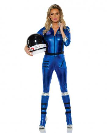 Astronauten Frauenkostüm blau