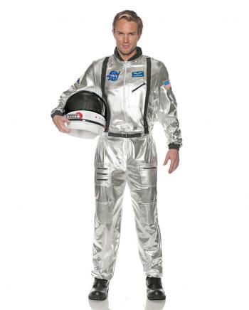 Astronauten Männerkostüm silber