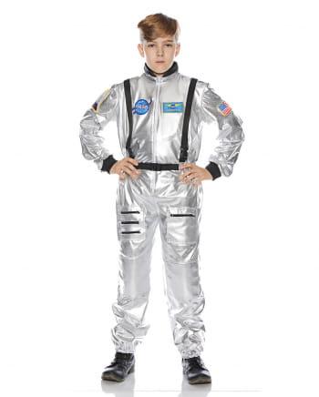 Astronautenkostüm für Kinder silber