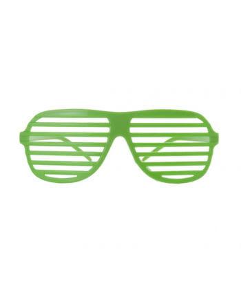 Neongrüne Gitter Brille