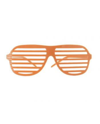 Neonorange Gitter Brille