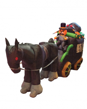 Inflatable Halloween Carriage With Pumpkin Rider