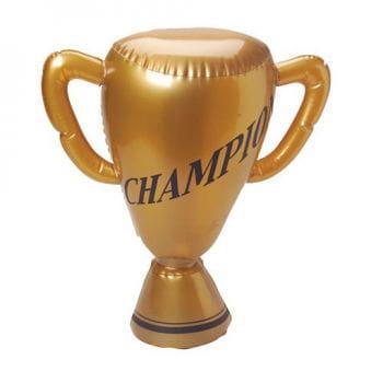 Goldener aufblasbarer Pokal