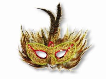 Augenmaske mit Fasanfedern