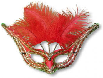 Venetian Eye Mask Red