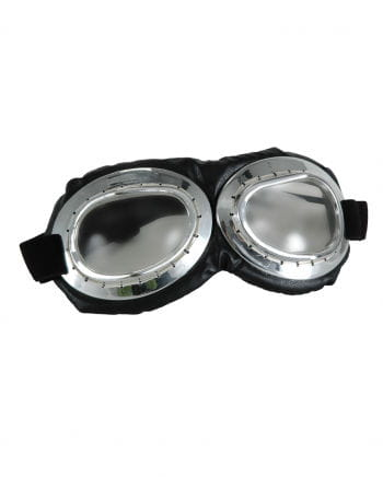 Silber-Schwarze Aviator Brille klar