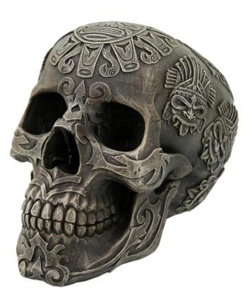 Totenschädel mit Maya Schriftzeichen
