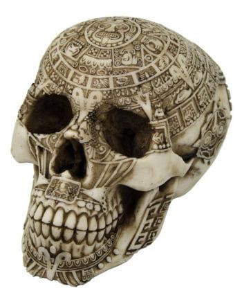 Aztekischer Totenschädel mit Gravur