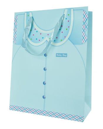 Baby boy gift bag blue