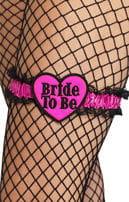 Bride to be Strumpfband mit Herz