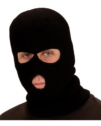 Schwarze Balaclava Sturmhaube als Maske