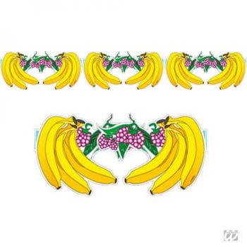 Früchtegirlande mit Bananenmotiv