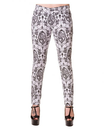 Punk Stretchjeans weiss