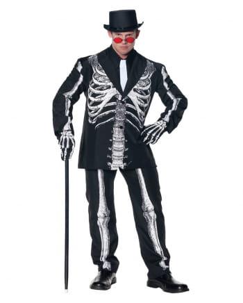Kostüm-Anzug Skelett Aufdruck Plus Size