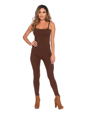 Basic Catsuit Brown With Thin Straps