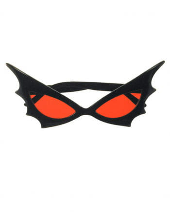 Bat Woman Sonnenbrille rotes Glass