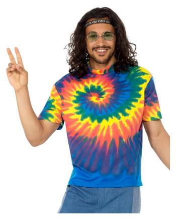 Hippie Kostümshirt Herren Batikmuster