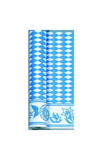 Bayrische Tischdecke weiß/blau