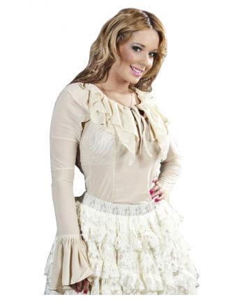 Burleska Langarm Shirt beige