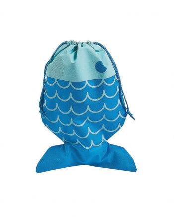 Blauer Beutel in Fischform