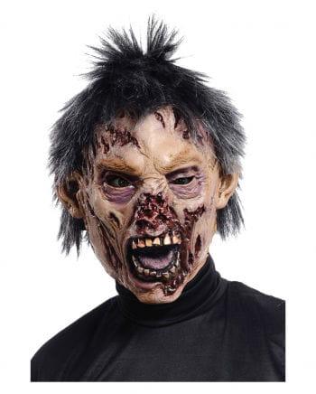 Beißer Zombie Maske mit Haaren