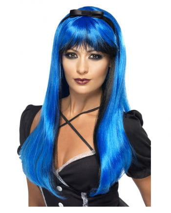 Cosplay Witch wig blue / black