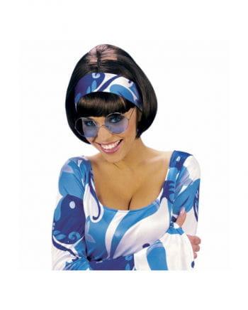 Blaue 70er Sonnenbrille