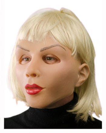 Realistische Frauenmaske mit Kurzhaar