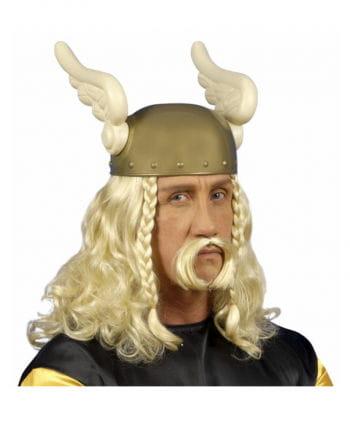 Blonde Gauls wig with beard