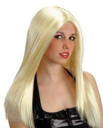 Langhaar Perücke blond, gescheitelt