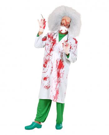 Blutiger Doktorkittel als Karnevalskostüm