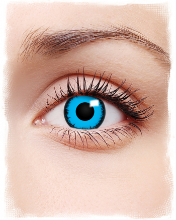 Blue Lunatic Contact Lenses