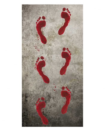 Bloody Footprints 6 Pieces 25x45cm