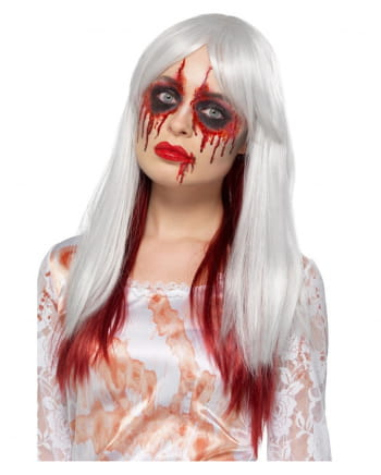 Bloody Ombre Wig Deluxe Grey-red