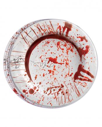 Blutige Party Teller aus Pappe 8 Stück