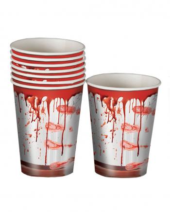 Blutige Partybecher aus Pappe 8 Stück