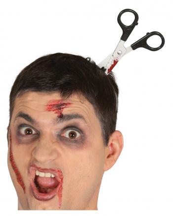 Halloween Haarreif mit Blutiger Schere