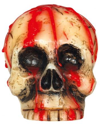 Blutige Totenschädel Kerze 10cm