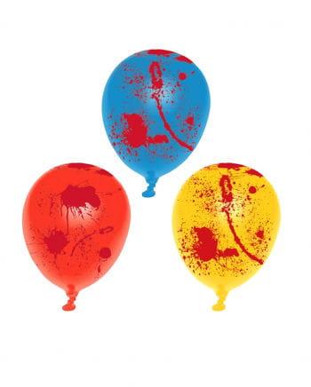 Bunte Luftballons mit Blutspritzern 6 Stück