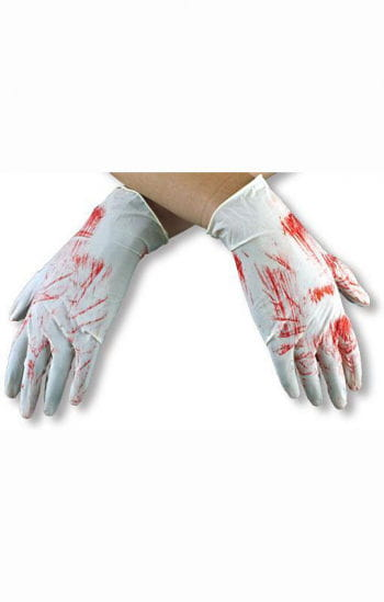 Bloody Latex Gloves