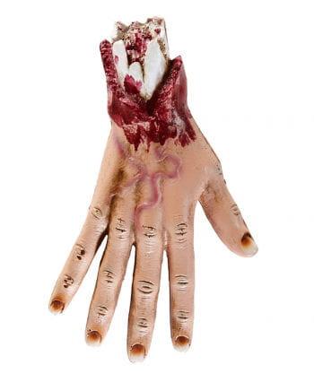 Blutige Hand eines Zombies