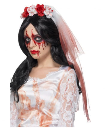 Bloody Rose Wedding Veil