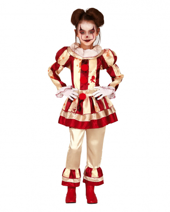 Bloody Clown Girl Children Costume