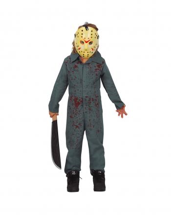 Psycho Killer Kinderkostüm mit Hockeymaske