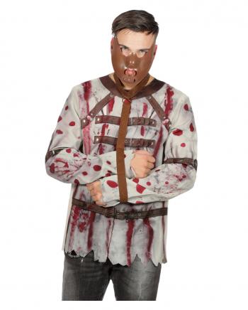 Blutiges Herren Kostümshirt Zwangsjacke