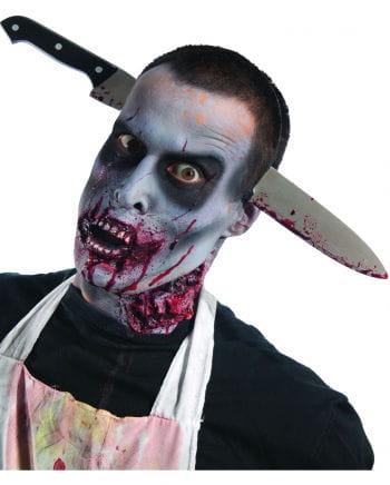 Blutiges Zombie Küchenmesser Kopfschmuck