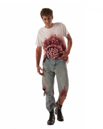 Blutiges Zombie Innereien T-Shirt