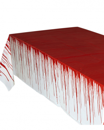 Halloween Tischdecke mit Blutspuren 137 x 275 cm